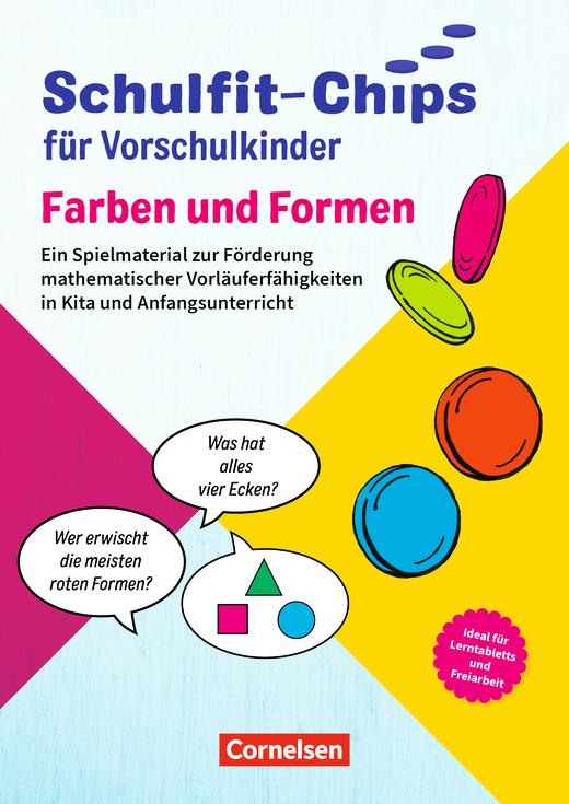 Schulfit-Chips für Vorschulkinder - Formen und Farben - Ein Spielmaterial zur Förderung sprachlicher Vorläuferfähigkeiten in Kita und Anfangsunterricht - Lernplättchen mit Begleitheft