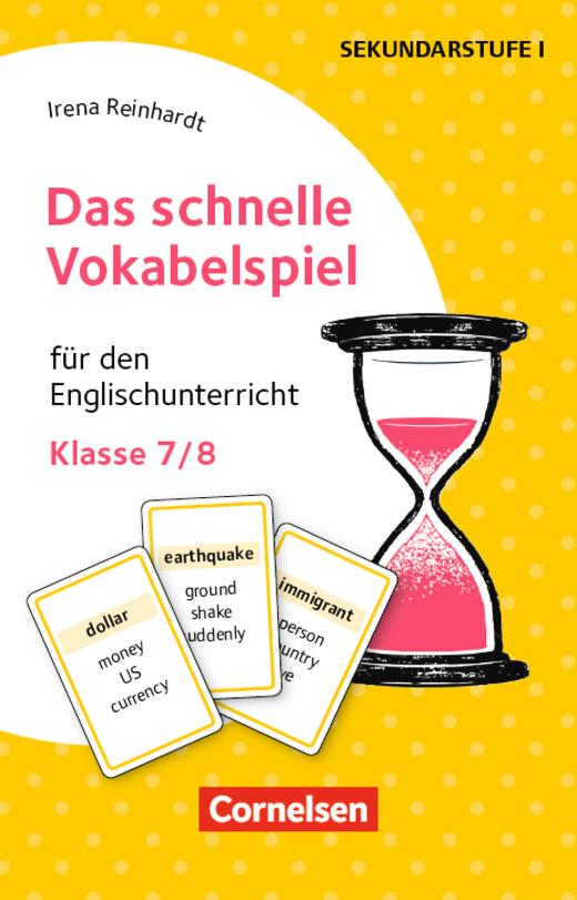Das schnelle Vokabelspiel - Für den Englischunterricht - Klasse 7/8 - 30 Lernkarten
