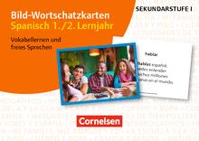 Bild-Wortschatzkarten Fremdsprachen Sekundarstufe I - Spanisch 1./2. Lernjahr - Vokabellernen und freies Sprechen - 300 Bildkarten