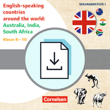 Themenhefte Fremdsprachen SEK - English-speaking countries around the world: Australia, India, South Africa - Kopiervorlagen als PDF - Klasse 8-10