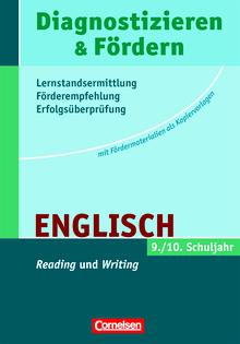 """Diagnostizieren und Fördern - Kopiervorlagen - """"Reading"""" und """"Writing"""" - Kopiervorlagen - 9./10. Schuljahr"""