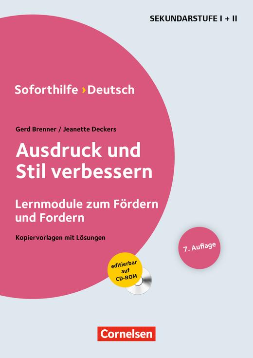 Soforthilfe - Ausdruck und Stil verbessern (7. Auflage) - Buch mit Kopiervorlagen auf CD-ROM
