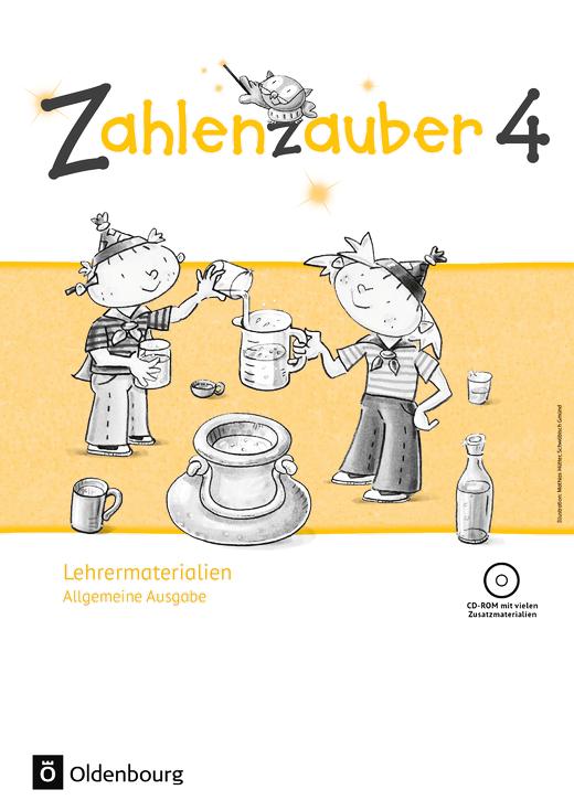 Zahlenzauber - Lehrermaterialien mit CD-ROM im Ordner - 4. Schuljahr
