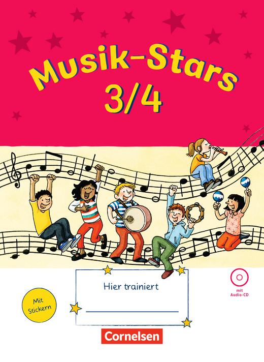 Musik-Stars - Übungsheft mit Lösungen und Audio-CD - 3./4. Schuljahr
