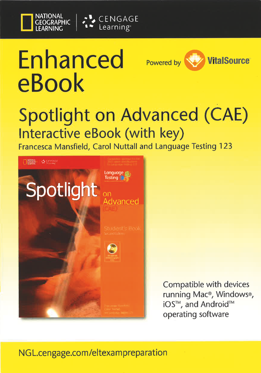 Spotlight - Interactive Student's E-Book with Key (Printed Access Code)