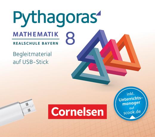Pythagoras - Unterrichtsmanager Plus auf USB-Stick - 8. Jahrgangsstufe (WPF I)