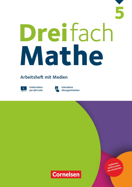 Dreifach Mathe - Arbeitsheft mit Medien und Lösungen - 5. Schuljahr