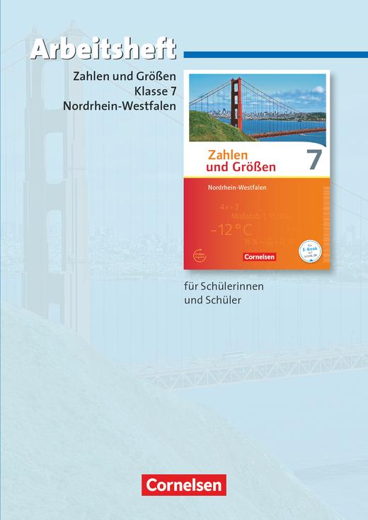 Zahlen und Größen - Arbeitsheft mit eingelegten Lösungen - 7. Schuljahr