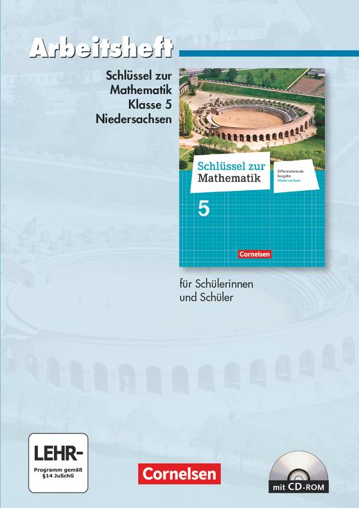 Schlüssel zur Mathematik - Arbeitsheft mit eingelegten Lösungen und CD-ROM - 5. Schuljahr