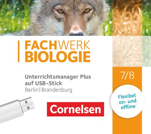 Fachwerk Biologie - Unterrichtsmanager Plus auf USB-Stick - 7./8. Schuljahr