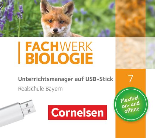 Fachwerk Biologie - Unterrichtsmanager Plus auf USB-Stick - 7. Jahrgangsstufe