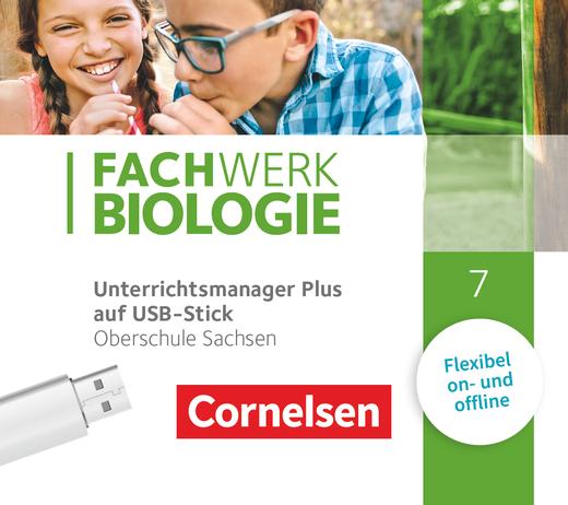 Fachwerk Biologie - Unterrichtsmanager Plus auf USB-Stick - 7. Schuljahr