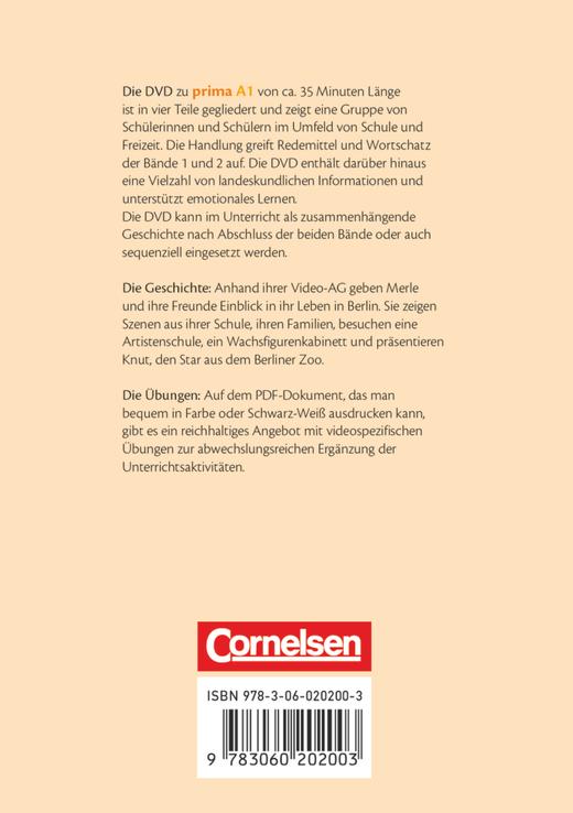 Prima - Deutsch für Jugendliche - Video-DVD - A1: Band 1 und 2