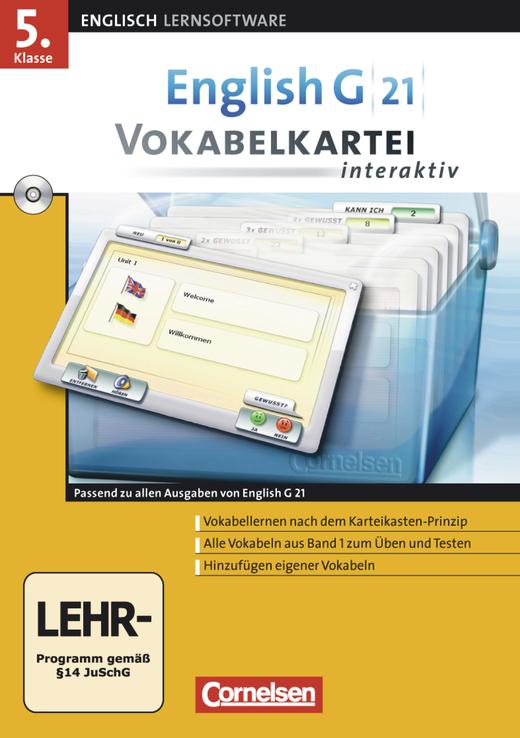 English G 21 - Vokabelkartei interaktiv - CD-ROM - Band 1: 5. Schuljahr