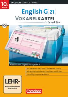 English G 21 - Vokabelkarteien interaktiv - Lernsoftware zu allen Ausgaben