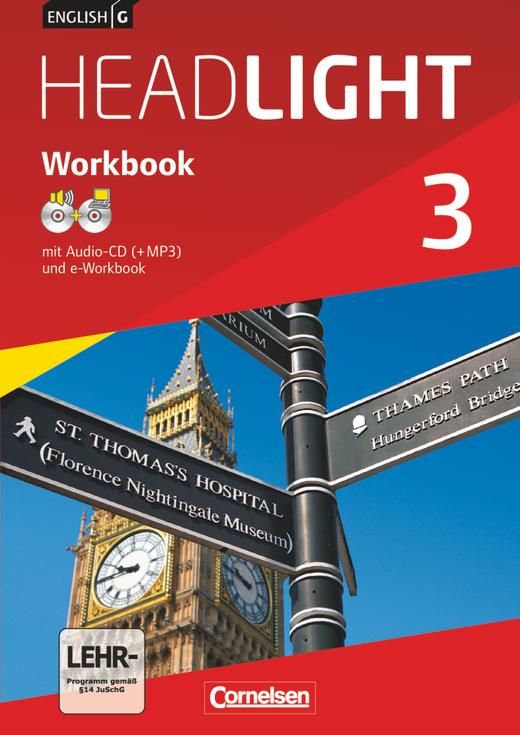 English G Headlight - Workbook mit CD-ROM (e-Workbook) und Audios online - Band 3: 7. Schuljahr
