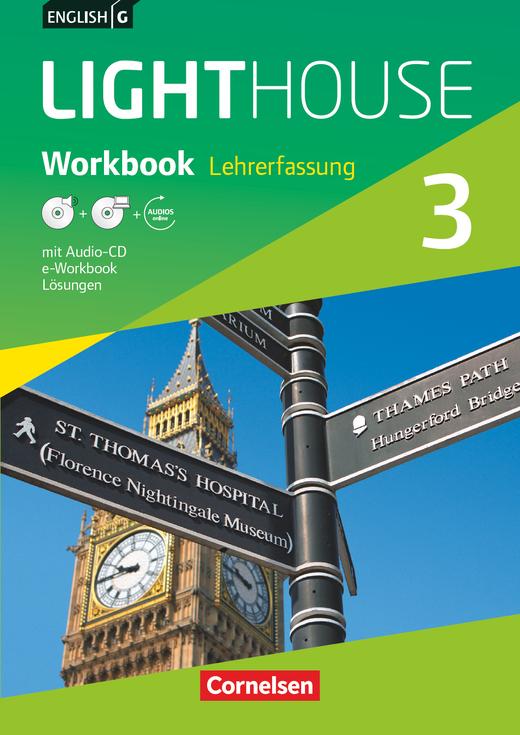 English G Lighthouse - Workbook mit CD-ROM (e-Workbook) und Audio-CD - Lehrerfassung - Band 3: 7. Schuljahr