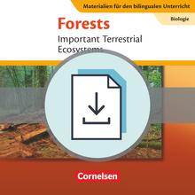 Materialien für den bilingualen Unterricht - Forests - Important Terrestrial Ecosystems - Lösungen zum Textheft als Download - Ab 8. Schuljahr