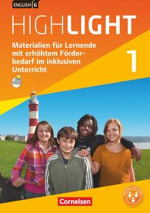 English G Highlight - Materialien für Lernende mit erhöhtem Förderbedarf im inklusiven Unterricht - Kopiervorlagen mit CD-ROM - Band 1: 5. Schuljahr