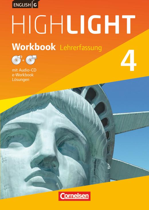 English G Highlight - Workbook mit Audio-CD und CD-ROM (e-Workbook)- Lehrerfassung - Band 4: 8. Schuljahr