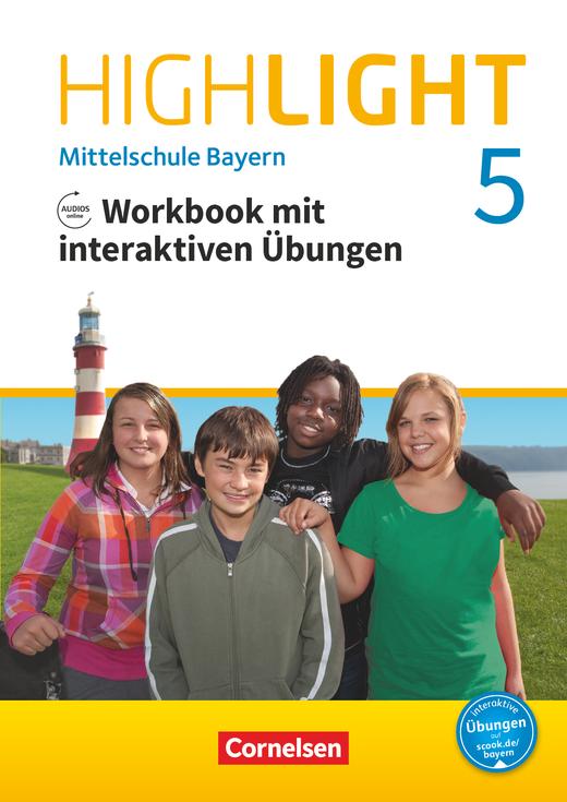 Highlight - Workbook mit interaktiven Übungen auf scook.de - 5. Jahrgangsstufe