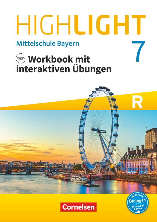 Highlight - Workbook mit interaktiven Übungen auf scook.de - 7. Jahrgangsstufe