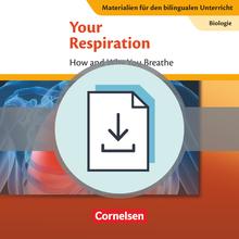 Materialien für den bilingualen Unterricht - Your Respiration - How and Why You Breathe - Lösungen zum Textheft als Download - Ab 7. Schuljahr