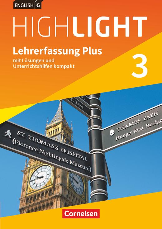 English G Highlight - Lehrerfassung Plus - Band 3: 7. Schuljahr