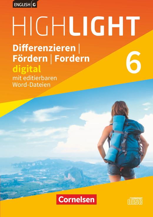 English G Highlight - Differenzieren, Fördern, Fordern - digital - CD-ROM mit editierbaren Word-Dateien - Band 6: 10. Schuljahr