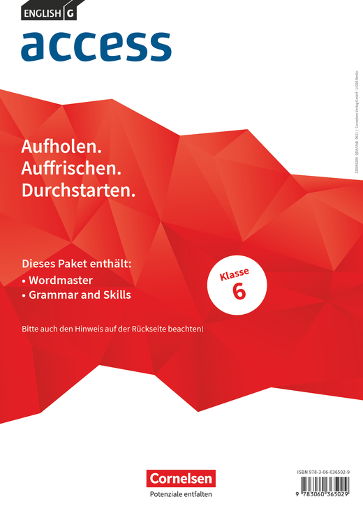 Access - Wordmaster und Grammar and Skills - Band 2: 6. Schuljahr