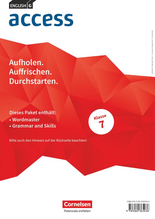 Access - Wordmaster und Grammar and Skills - Band 3: 7. Schuljahr