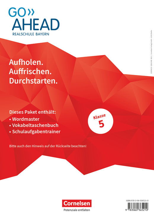 Go Ahead - Arbeitshefte Wordmaster, Vokabeltaschenbuch und Schulaufgabentrainer - 5. Jahrgangsstufe