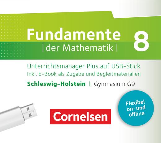 Fundamente der Mathematik - Unterrichtsmanager Plus auf USB-Stick - 8. Schuljahr
