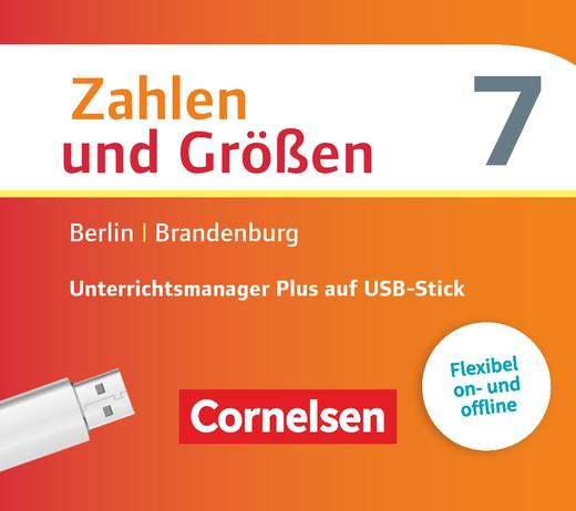 Zahlen und Größen - Unterrichtsmanager Plus auf USB-Stick - 7. Schuljahr