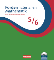 Fördermaterialien Mathematik - Tests, Kopiervorlagen mit Lösungsblättern und CD-ROM - 5./6. Schuljahr