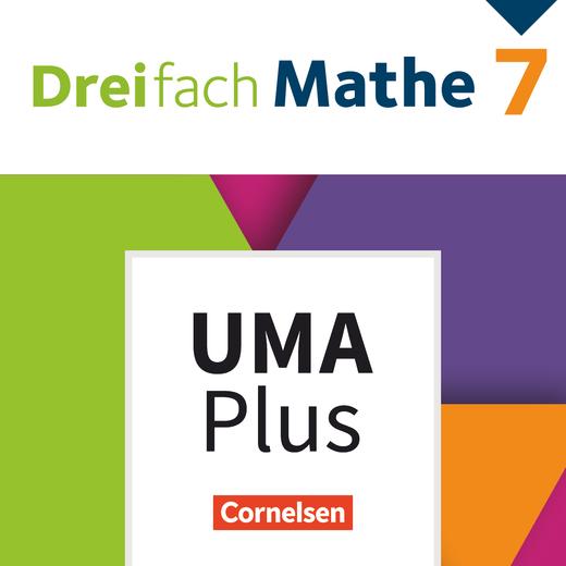 Dreifach Mathe - Unterrichtsmanager Plus - mit Download für Offline-Nutzung - 7. Schuljahr