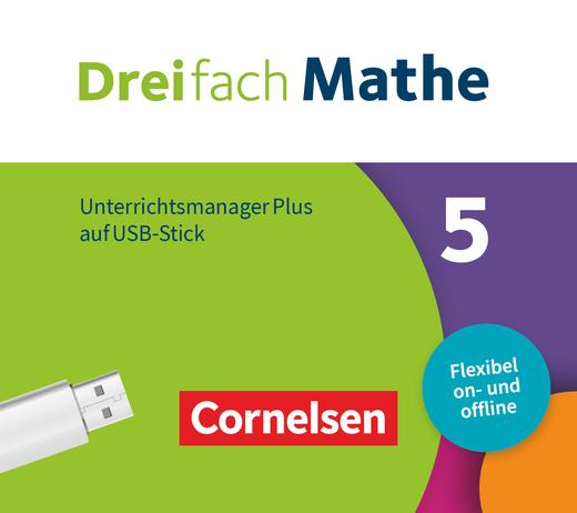 Dreifach Mathe - Unterrichtsmanager Plus auf USB-Stick - 5. Schuljahr