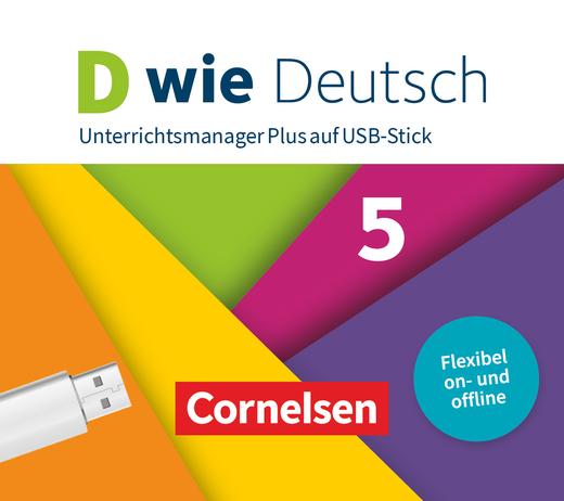 D wie Deutsch - Unterrichtsmanager Plus auf USB-Stick - 5. Schuljahr
