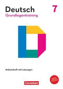 Grundlagentraining Deutsch - Förderheft mit Lösungen - 7. Schuljahr