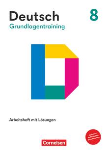 Grundlagentraining Deutsch - Förderheft mit Lösungen - 8. Schuljahr