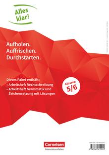 Alles klar! - Arbeitshefte Rechtschreibung, Grammatik und Zeichensetzung mit Lösungen - 5./6. Schuljahr