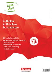 Alles klar! - Arbeitshefte Rechtschreibung, Grammatik und Zeichensetzung mit Lösungen - 7./8. Schuljahr