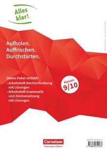 Alles klar! - Arbeitshefte Rechtschreibung, Grammatik und Zeichensetzung mit Lösungen - 9./10. Schuljahr