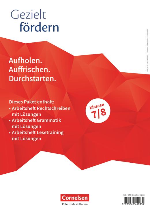 Gezielt fördern - Thematische Arbeitshefte - 7./8. Schuljahr