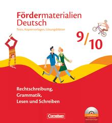 Fördermaterialien Deutsch - Tests, Kopiervorlagen mit Lösungsblättern und CD-ROM - 9./10. Schuljahr