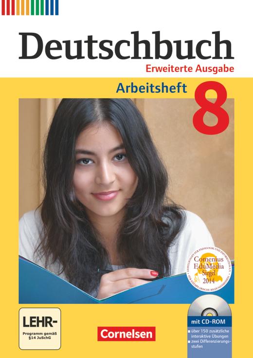 Deutschbuch - Arbeitsheft mit Lösungen und Übungs-CD-ROM - 8. Schuljahr