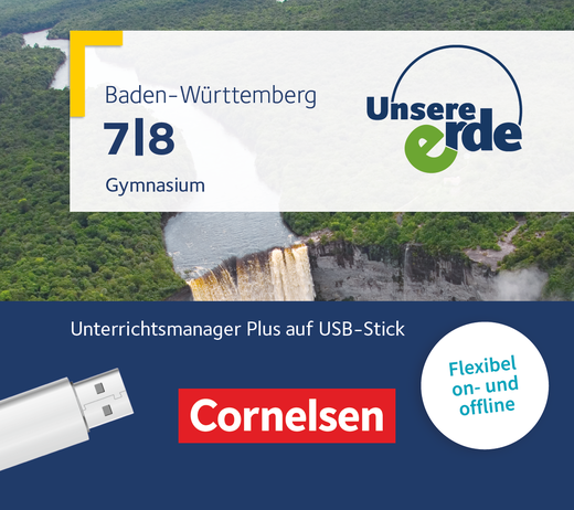 Unsere Erde - Unterrichtsmanager Plus auf USB-Stick - 7./8. Schuljahr
