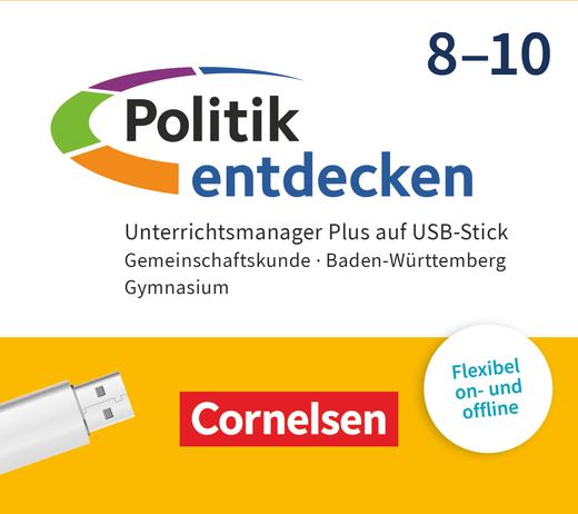Politik entdecken - Unterrichtsmanager Plus auf USB-Stick - 8.-10. Schuljahr