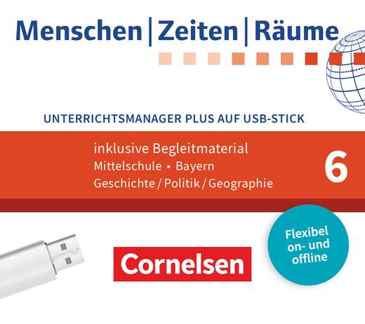 Menschen-Zeiten-Räume - Unterrichtsmanager Plus auf USB-Stick - 6. Jahrgangsstufe