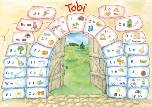 Tobi - Lauttabelle Druckschrift